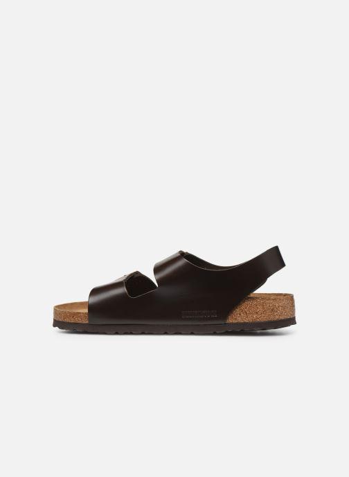 Sandals Birkenstock Milano Cuir M Brown front view