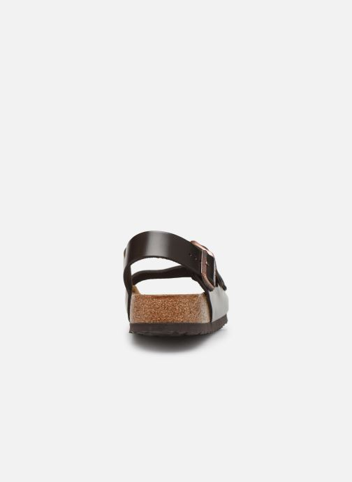 Sandals Birkenstock Milano Cuir M Brown view from the right
