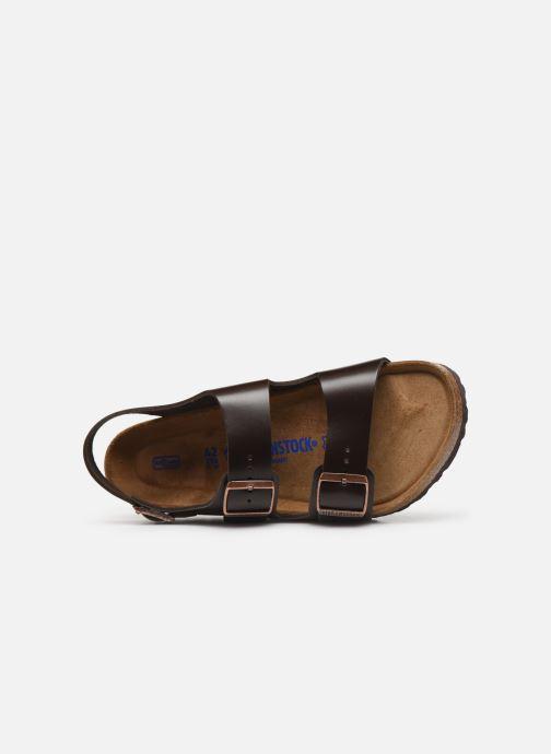 Sandales et nu-pieds Birkenstock Milano Cuir M Marron vue gauche