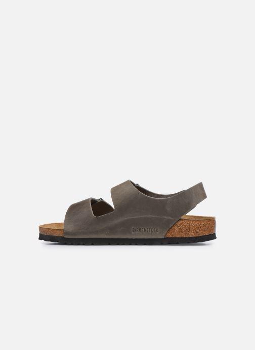 Sandales et nu-pieds Birkenstock Milano Cuir M Argent vue face