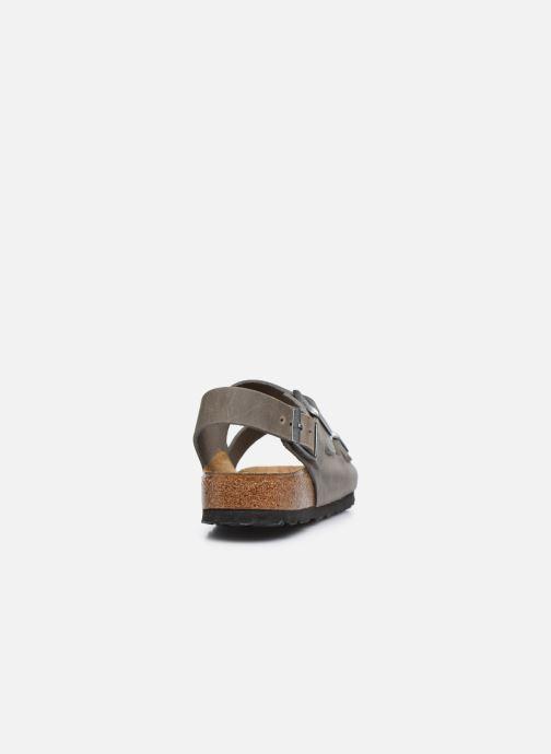 Sandales et nu-pieds Birkenstock Milano Cuir M Argent vue droite