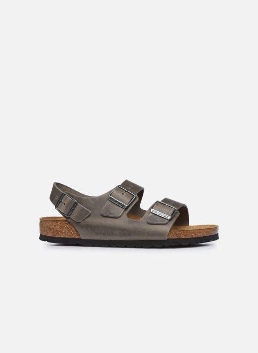 Sandales et nu-pieds Birkenstock Milano Cuir M Argent vue derrière