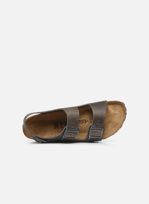 Sandales et nu-pieds Birkenstock Milano Cuir M Argent vue gauche