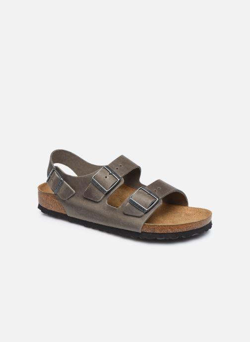 Sandales et nu-pieds Birkenstock Milano Cuir M Argent vue détail/paire