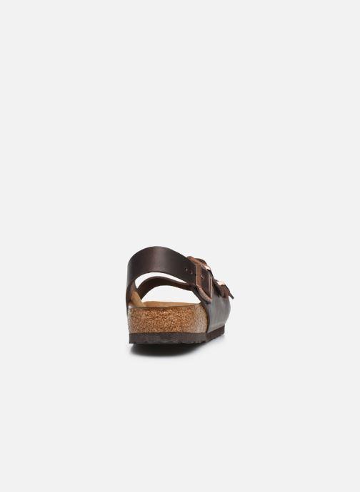Sandali e scarpe aperte Birkenstock Milano Cuir M Marrone immagine destra