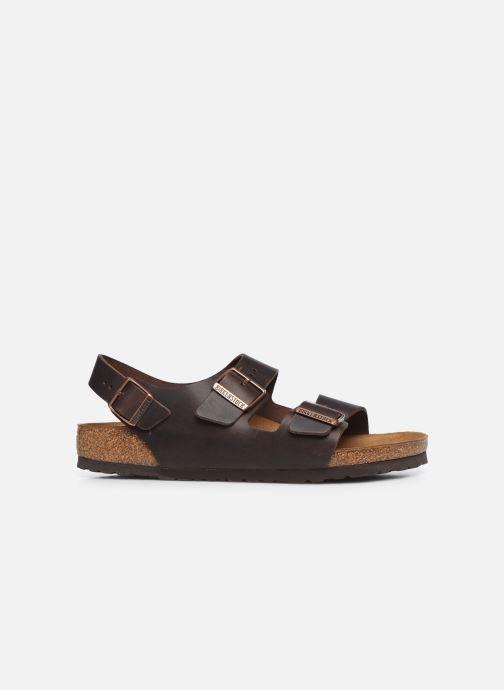 Sandales et nu-pieds Birkenstock Milano Cuir M Marron vue derrière