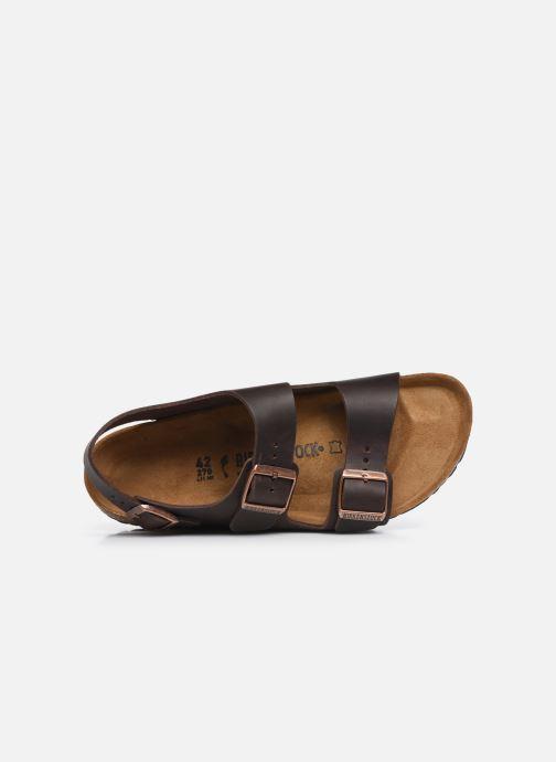 Sandali e scarpe aperte Birkenstock Milano Cuir M Marrone immagine sinistra