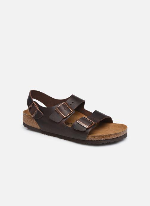 Sandales et nu-pieds Birkenstock Milano Cuir M Marron vue détail/paire