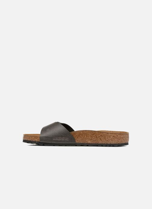 Sandales et nu-pieds Birkenstock Madrid Flor M Gris vue face