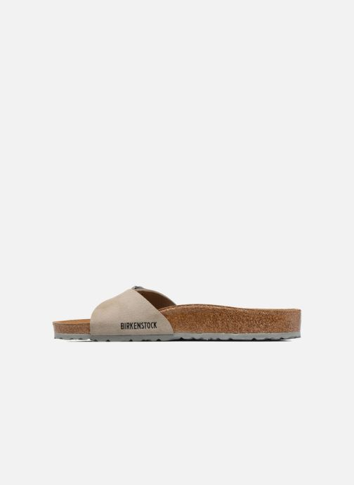 Sandales et nu-pieds Birkenstock Madrid Flor M Marron vue face