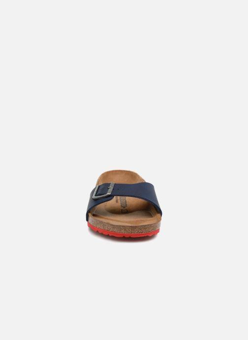Sandalen Birkenstock Madrid Flor M blau schuhe getragen