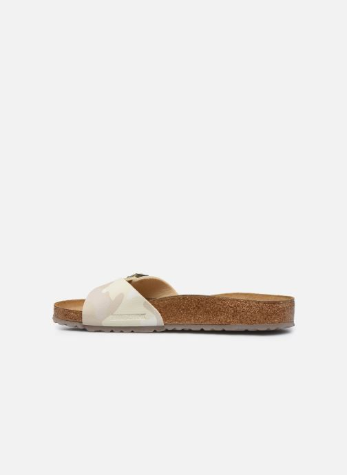 Sandales et nu-pieds Birkenstock Madrid Flor M Blanc vue face