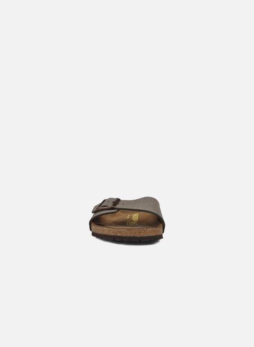 Sandalen Birkenstock Madrid Flor M grau schuhe getragen