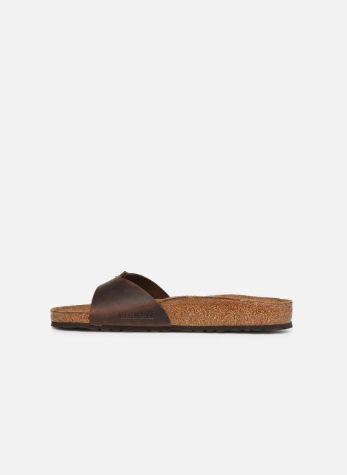 Sandals Birkenstock Madrid Cuir M Brown front view