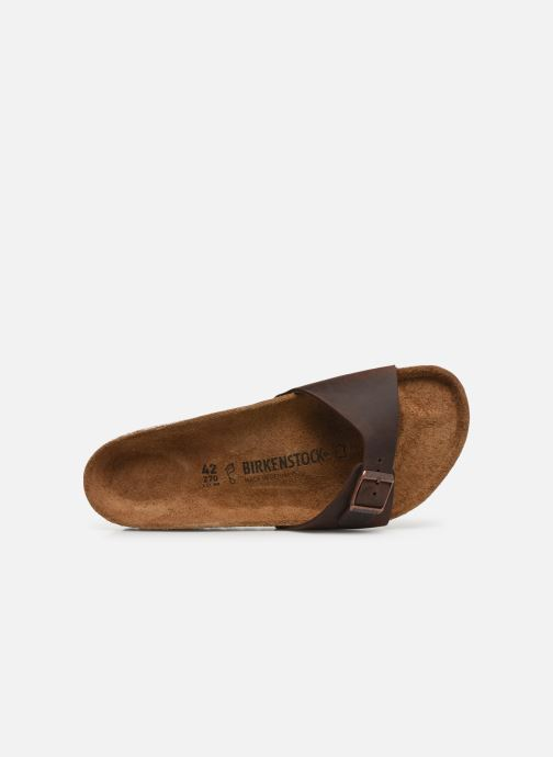 Sandals Birkenstock Madrid Cuir M Brown view from the left