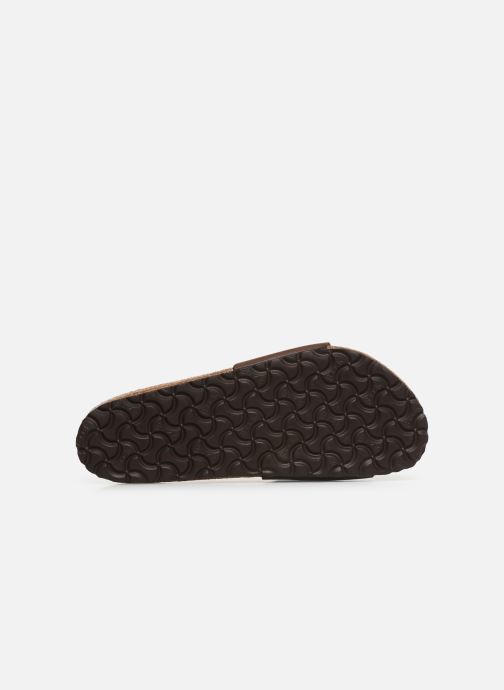 Sandales et nu-pieds Birkenstock Madrid Cuir M Marron vue haut