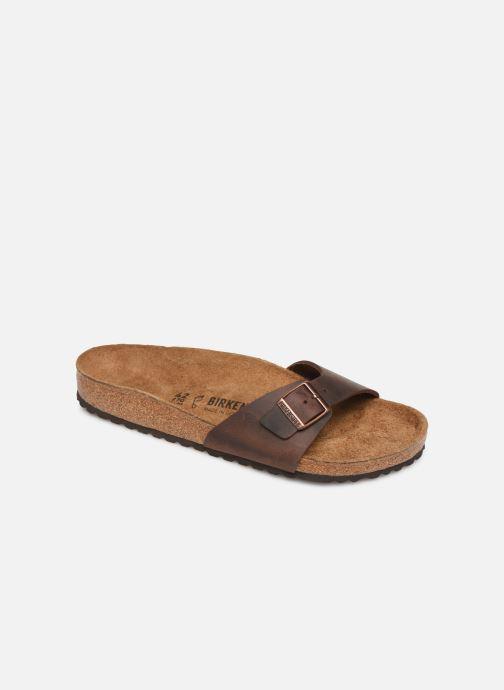 Sandals Birkenstock Madrid Cuir M Brown detailed view/ Pair view