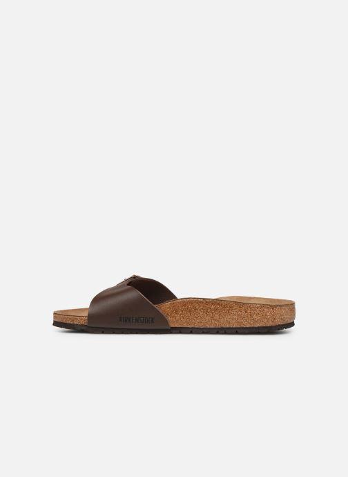Sandales et nu-pieds Birkenstock Madrid Cuir M Marron vue face