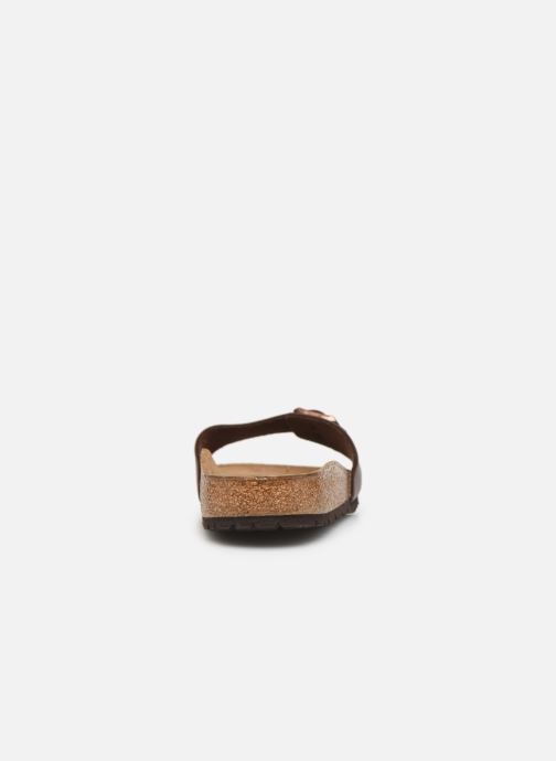 Sandals Birkenstock Madrid Cuir M Brown view from the right
