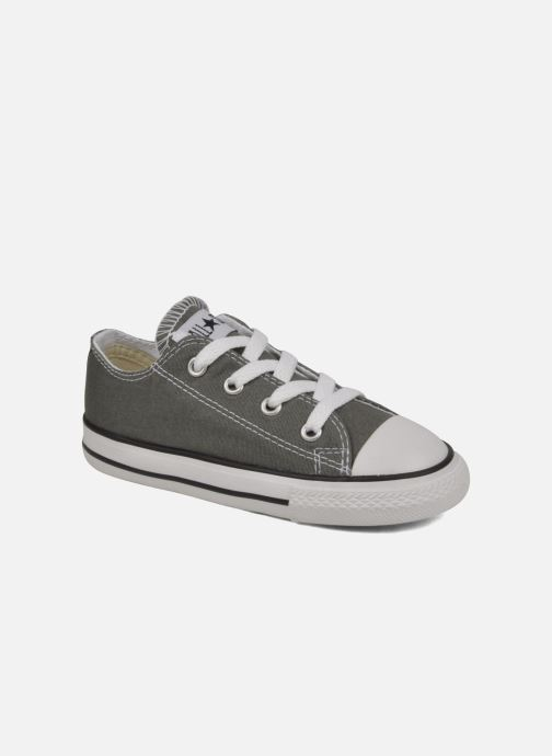 Baskets Converse Chuck Taylor All Star Ox K Gris vue détail/paire