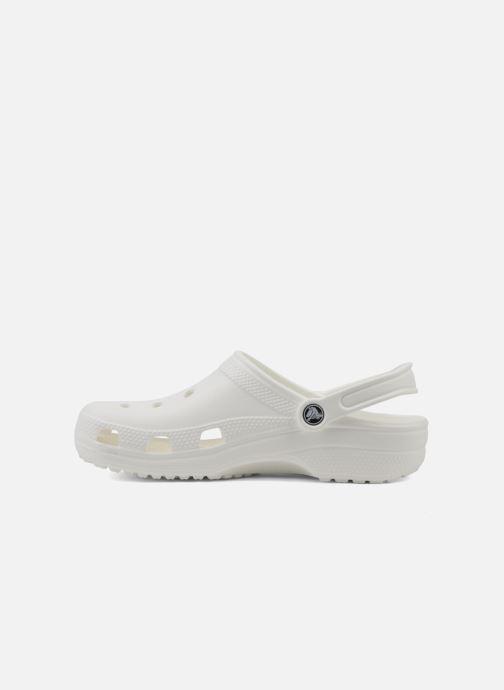 Mules et sabots Crocs Classic F Blanc vue face