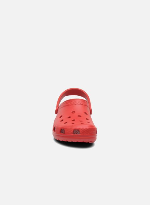 Clogs & Pantoletten Crocs Cayman F weinrot schuhe getragen