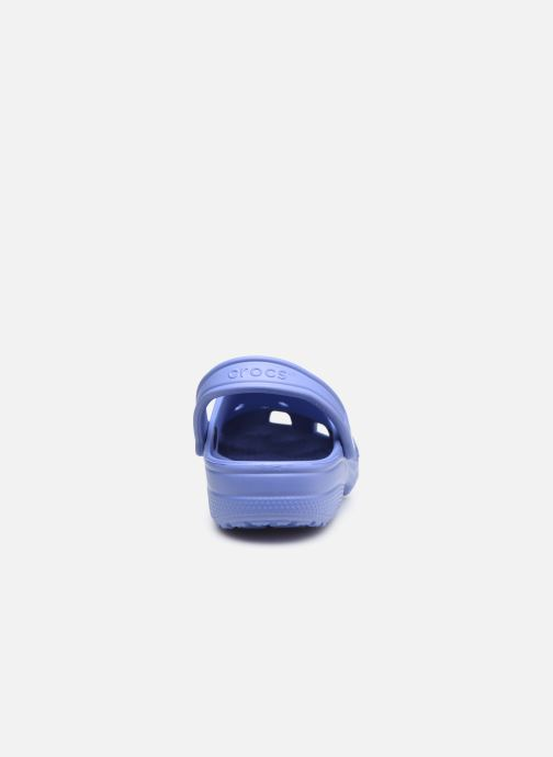 Mules et sabots Crocs Classic F Bleu vue droite