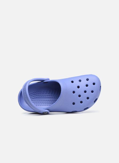 Zuecos Crocs Cayman F Azul vista lateral izquierda