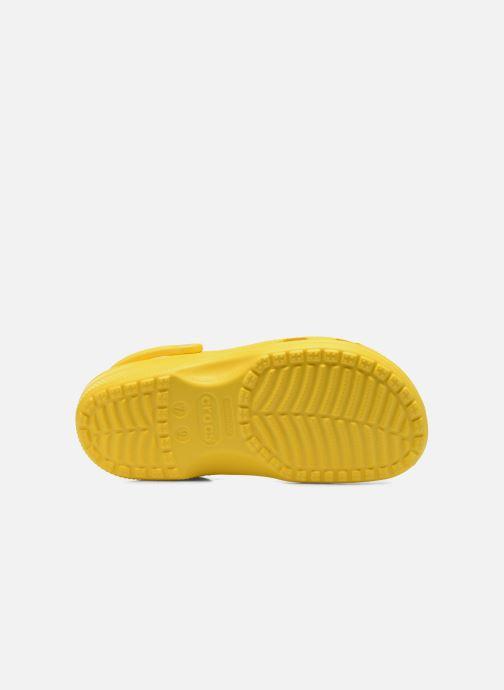 Mules et sabots Crocs Classic F Jaune vue haut