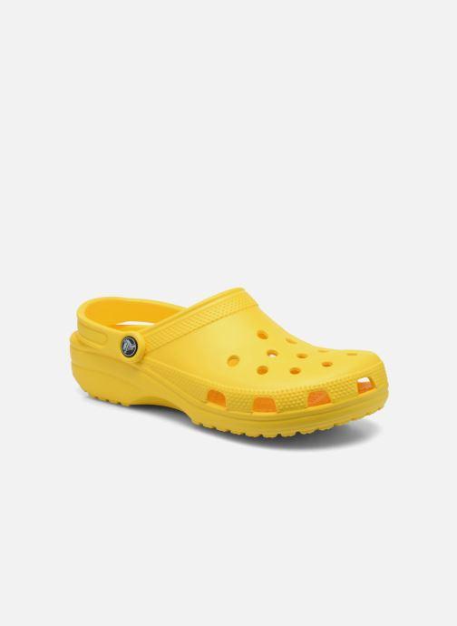 Mules et sabots Crocs Classic W Jaune vue détail/paire