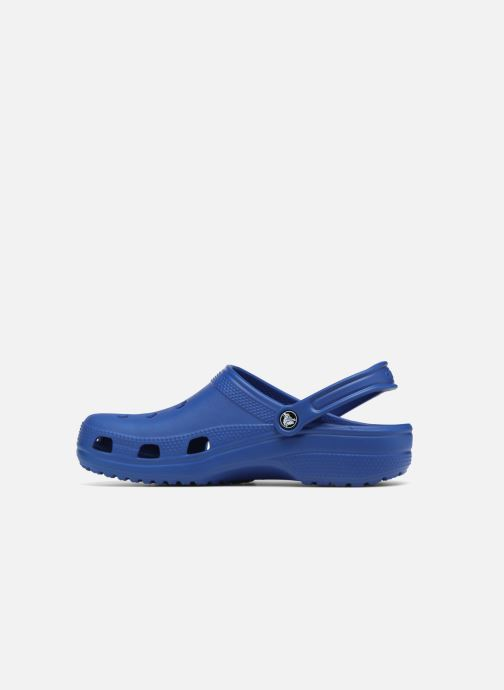 Zuecos Crocs Cayman F Azul vista de frente
