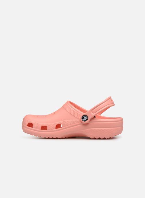 Mules et sabots Crocs Classic F Orange vue face