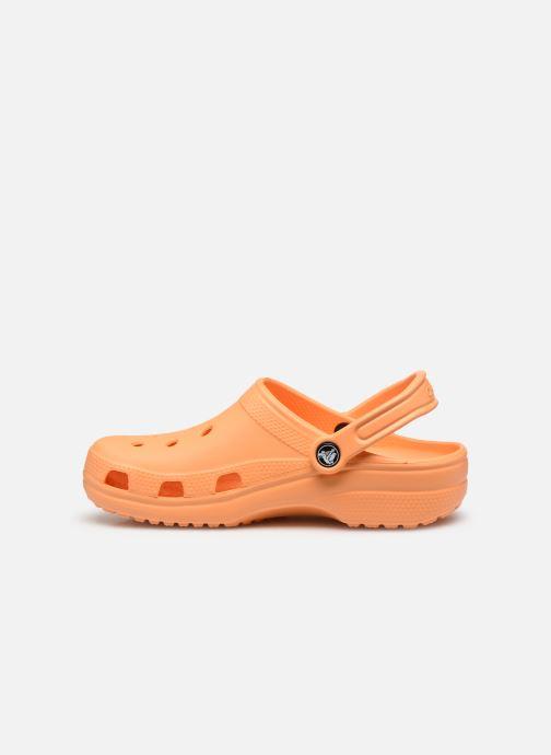 Zuecos Crocs Cayman F Naranja vista de frente