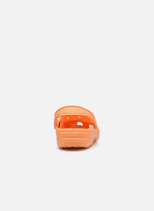 Mules et sabots Crocs Classic F Orange vue droite