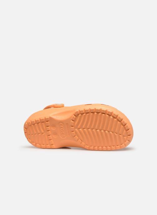 Mules et sabots Crocs Classic F Orange vue haut