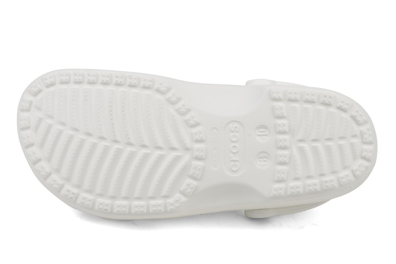Mules et sabots Crocs Classic F Blanc vue haut