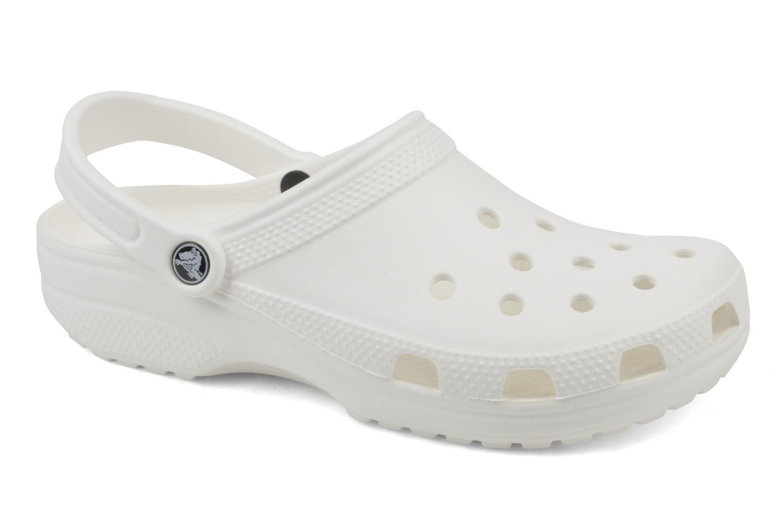 Mules et sabots Crocs Classic F Blanc vue détail/paire