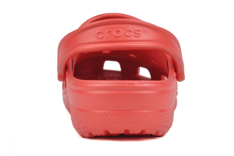 Mules et sabots Crocs Classic F Rouge vue droite