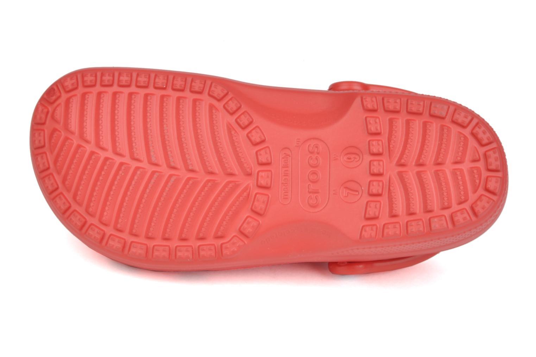 Mules et sabots Crocs Classic F Rouge vue haut