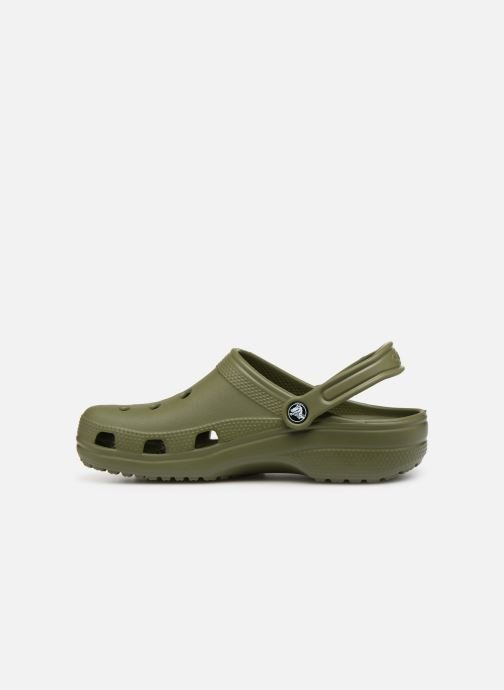 Sandals Crocs Cayman H Green front view