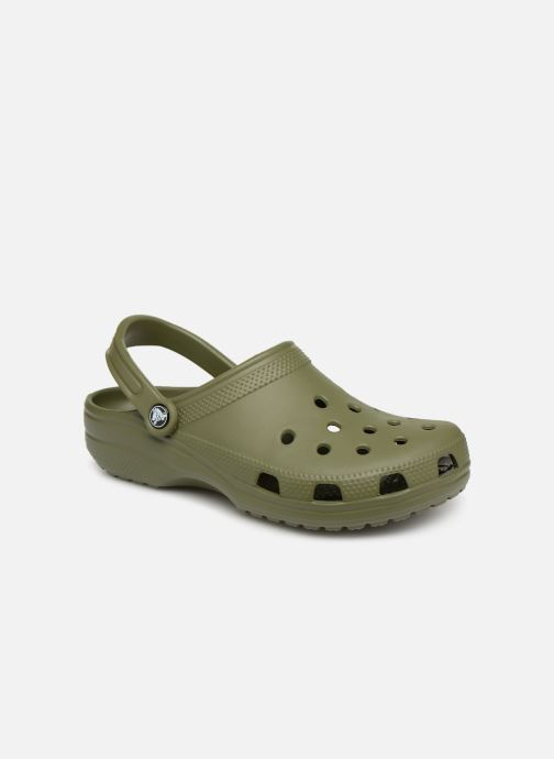 Sandals Crocs Cayman H Green detailed view/ Pair view