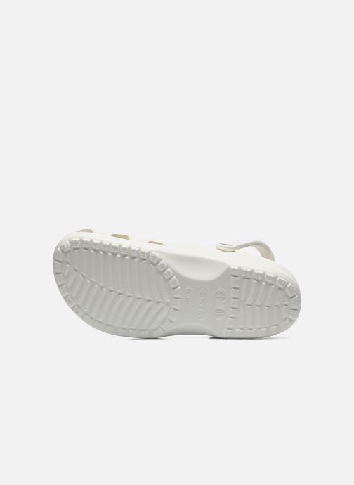 Sandales et nu-pieds Crocs Classic H Blanc vue haut