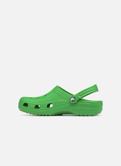 Sandals Crocs Cayman H Green front view