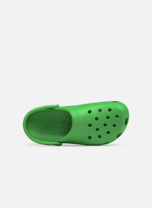 Sandals Crocs Cayman H Green view from the left