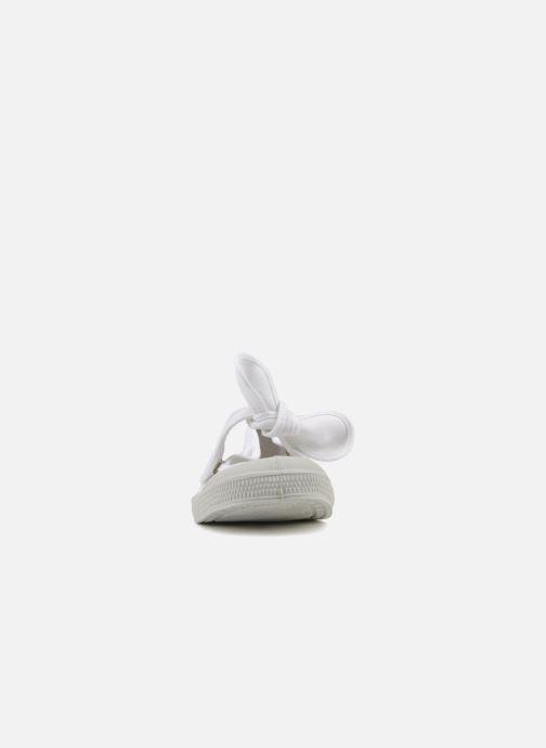 Ballerines Bensimon Ballerine Flo E Blanc vue portées chaussures