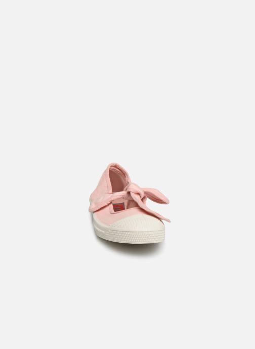 Ballerines Bensimon Ballerine Flo E Rose vue portées chaussures