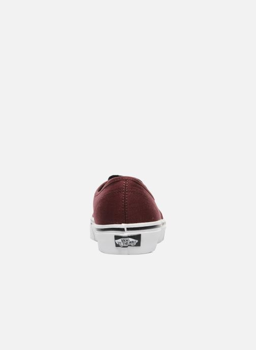 Trainers Vans Authentic Burgundy view from the right