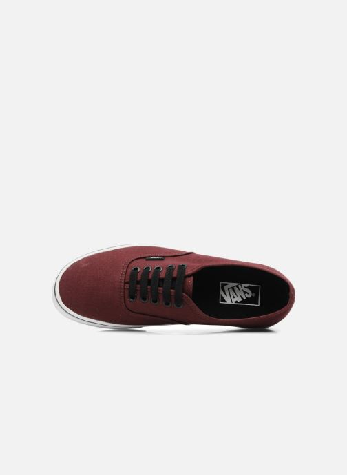 Trainers Vans Authentic Burgundy view from the left