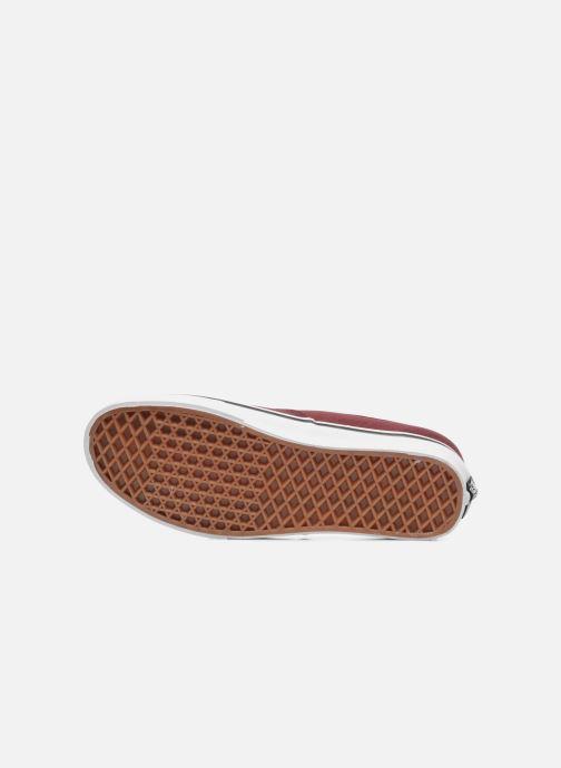 Baskets Vans Authentic Bordeaux vue haut