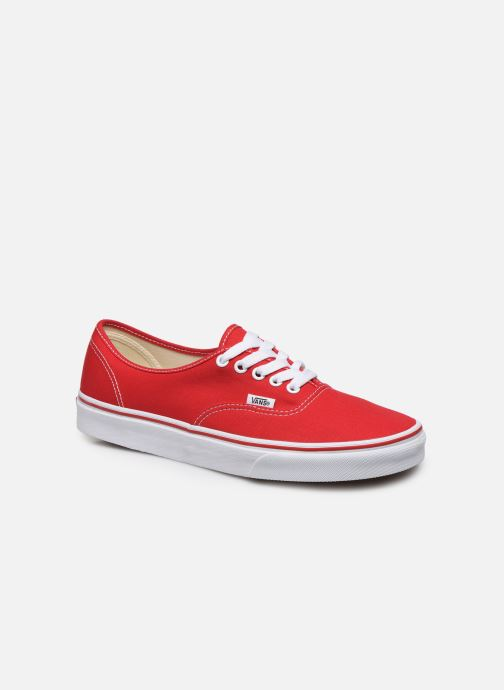 Baskets Vans Authentic Rouge vue détail/paire